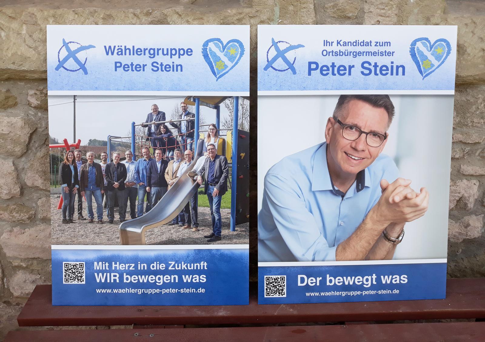 A1 Plakate - zur Gemeinderatswahl in Offenbach-Hundheim